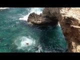 Прыжок с памятной арки на Кипре