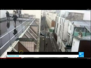 France False Flag Shooting - Attackers SPLICED IN + COPS cut out + Man in